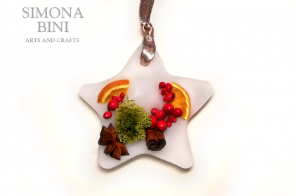 Decorazione profumata a forma di stella – Star-shaped scented decoration