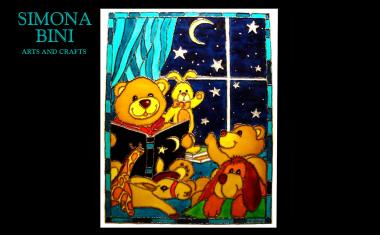 Dipinto su vetro Buona notte! – Painted on glass Good night!
