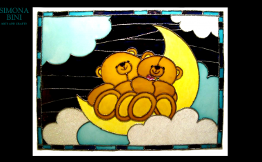 Dipinto su vetro Sogni d'oro! – Painted on glass Sweet dreams!!